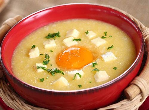 Cháo trứng đậu hũ: Ảnh minh hoạ