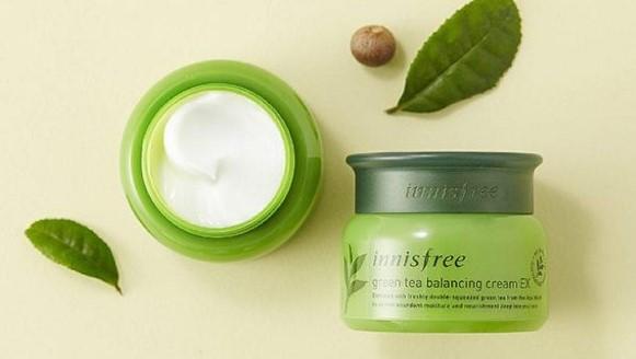 Kem dưỡng ẩm cho da mụn Innisfree Green Tea Balancing Cream EX