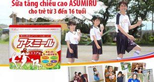 Sữa Asumir tăng chiều cao 3 - 16 tuổi