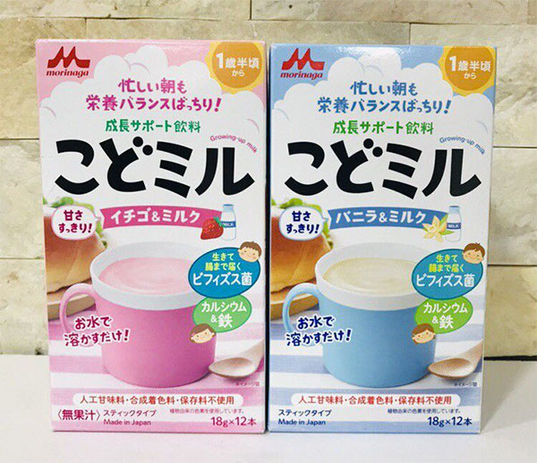 Sữa Morinaga Kodomo cho bé trên 18 tháng tuổi