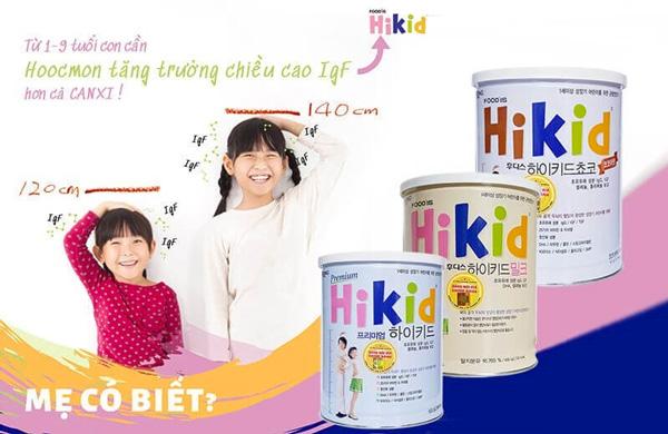 Sữa Hikid Hàn Quốc cho trẻ 1 - 9 tuổi giúp bé tăng chiều cao vượt trội
